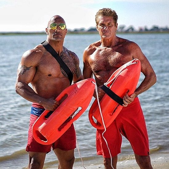 Baywatch (David Hasselhoff e Dwayne Johnson)