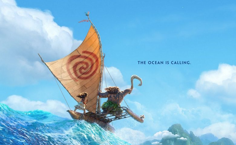 Un mucchio di characters promo video per Oceania, il nuovo cartoon Disney