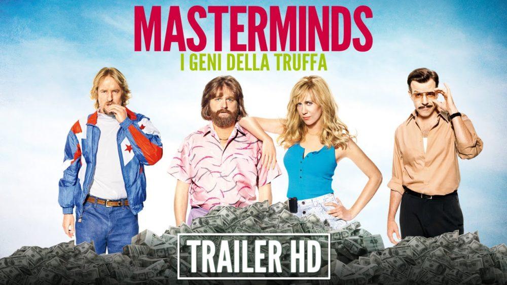 Zach Galifianakis guida una pazza truffa milionaria nel trailer italiano di Masterminds - I Geni della Truffa
