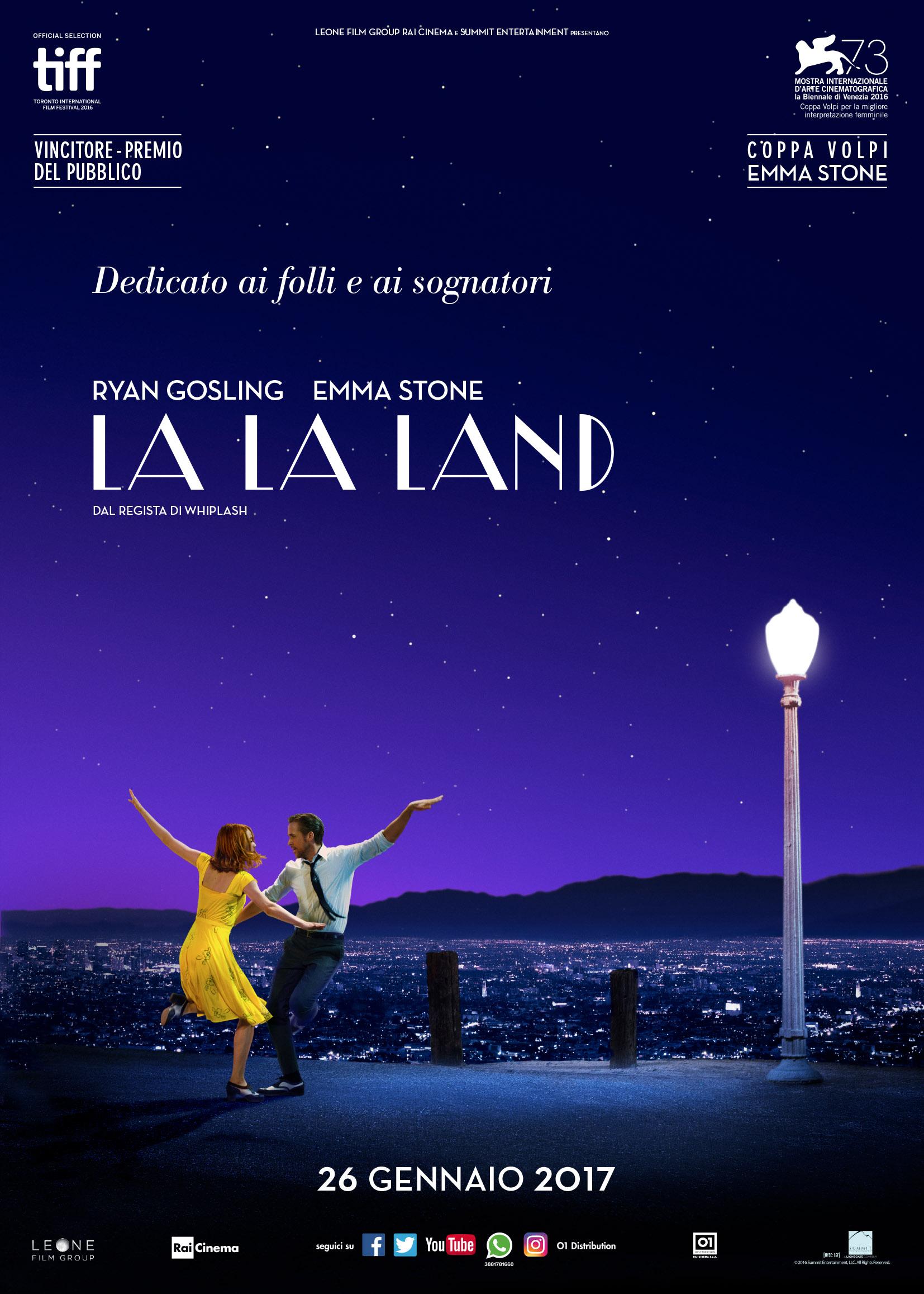 Trailer e poster italiani di La La Land, il film di Damien Chazelle in uscita il 26 gennaio