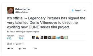 [Ufficiale] Denis Villeneuve dirigerà il remake del cult sci-fi Dune
