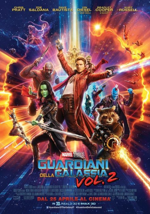 guardiani galassia 2 poster ita