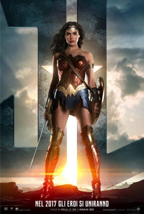 justice league poster wonder woman