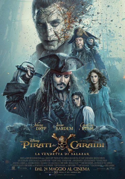 pirati dei caraibi 5 poster ita