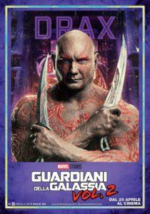 guardiani galassia 2 poster italiano drax distruttore