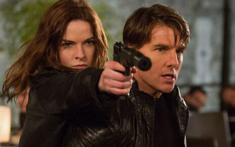 rebecca ferguson sul set di mission impossible 6