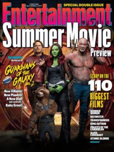 guardiani della galassia 2 cover e foto da entertainment weekly
