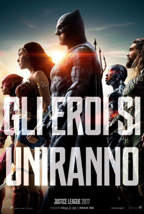 justice league nuovo poster italiano