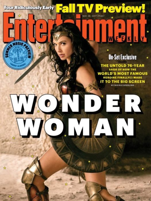 wonder woman copertina entertainment weekly
