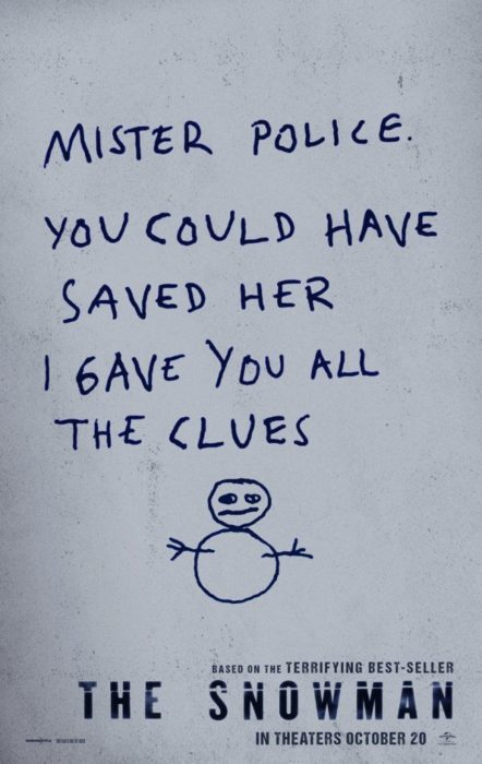 the snowman film poster