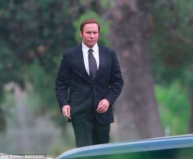 Christian Bale notevolmente ingrassato nei panni di Dick Cheney in Backseat