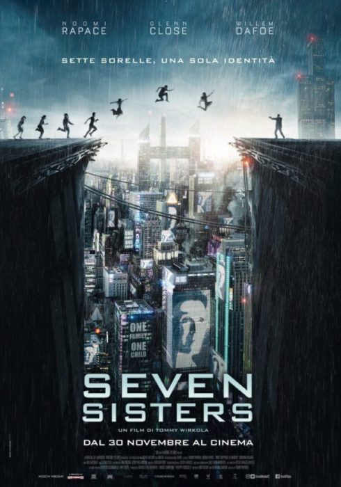 Il poster italiano di Seven Sisters, il dramma sci-fi prodotto da Netflix