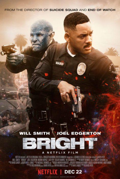 Will Smith e l'orco Joel Edgerton nel nuovo poster di Bright