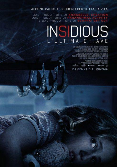 La versione italiana dell'inquietante poster di Insidious: L'ultima Chiave