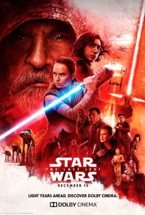 La locandina di Star Wars: Gli Ultimi Jedi destinata alla catena Dolby Cinema