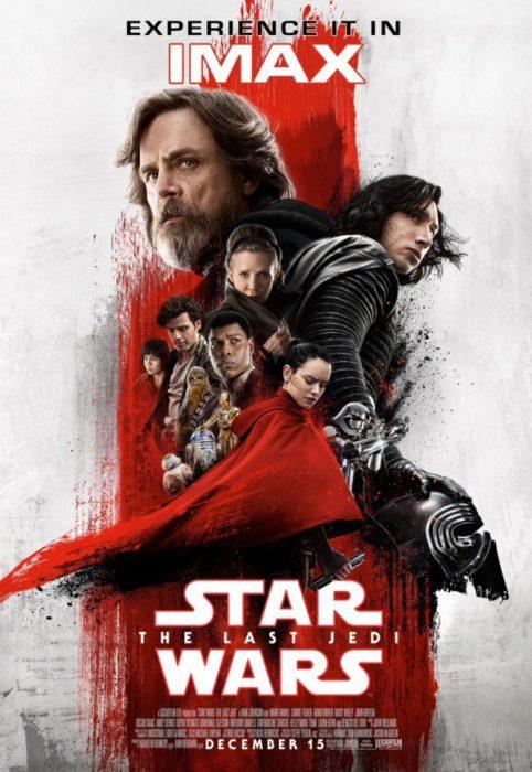 La versione IMAX del poster di Star Wars: Gli Ultimi Jedi