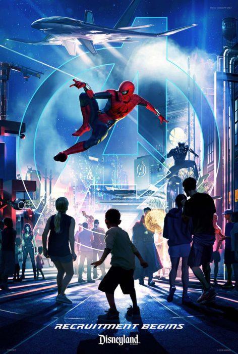 Disneyland poster Marvel