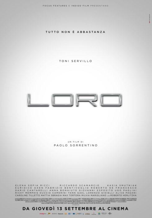 Loro di Paolo Sorrentino in versione unica al cinema il 13 settembre