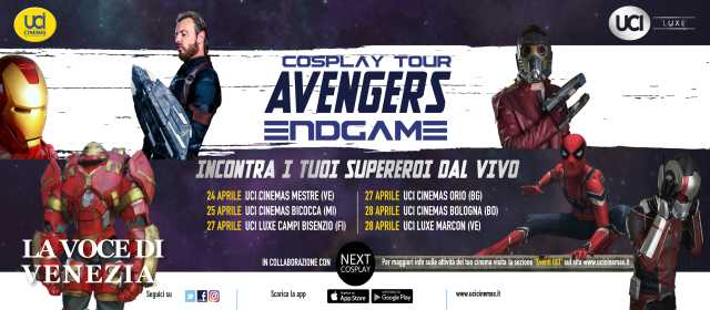 avengers cosplay tour