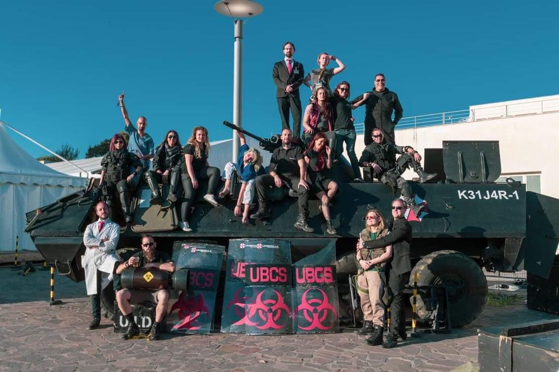 Comicon 2019 - Gli zombie della Umbrella Italian Division invadono Napoli
