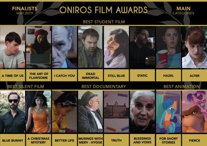 Oniros Film Awards - Film e Autori in finale per il concorso Maggio 2019