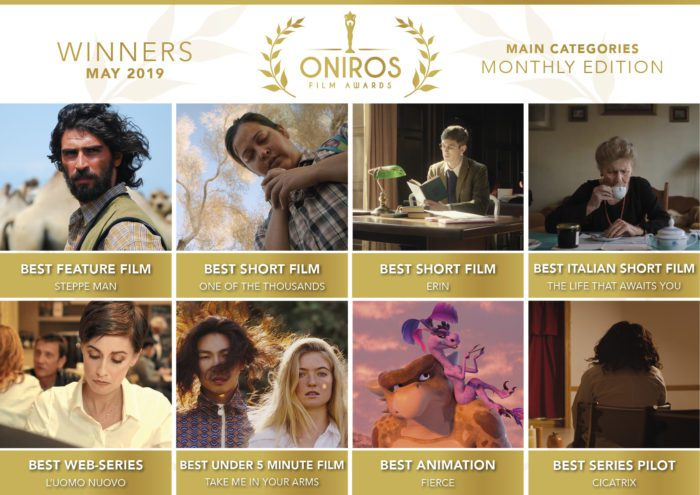 Oniros Film Awards - Scopriamo insieme i vincitori del concorso Maggio 2019