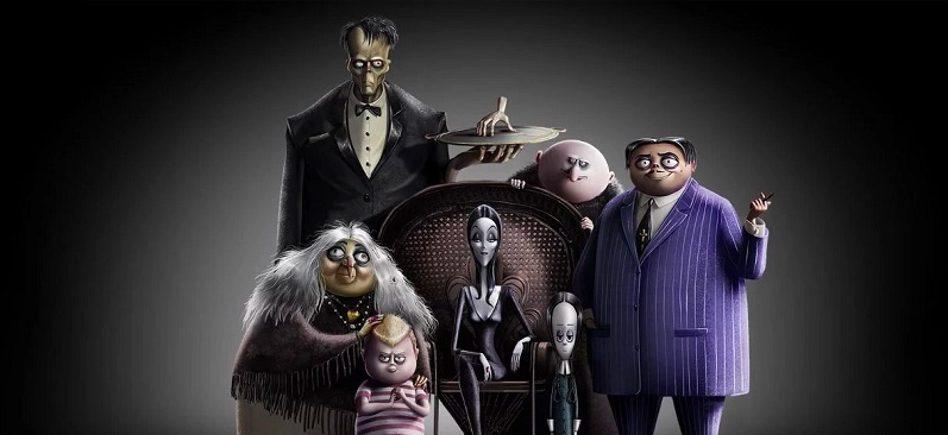 la famiglia addams cartoon