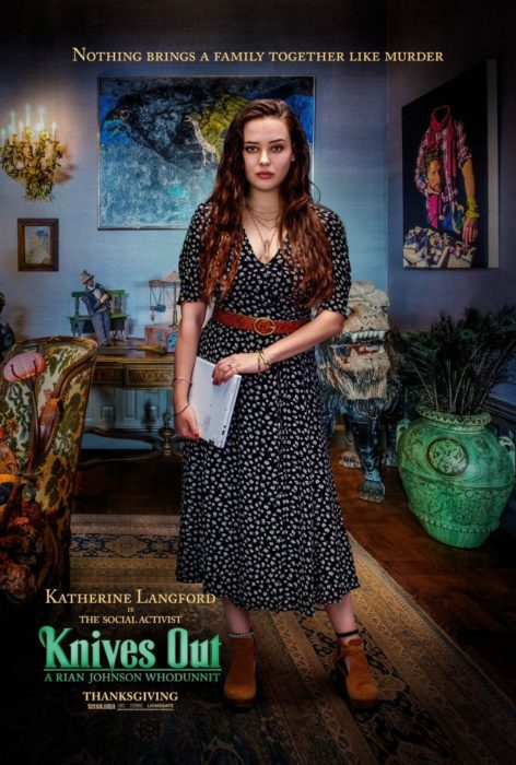 I characters poster di Knives Out, il film di Rian Johnson