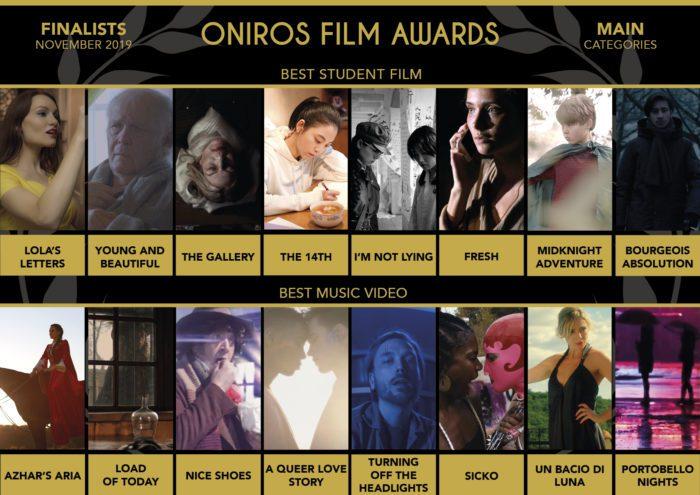Oniros Film Awards: La lista dei finalisti del concorso Novembre 2019