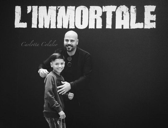 Marco D'Amore e gli altri interpreti di L'immortale nelle nostre foto romane