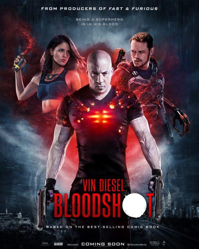 Bloodshot: Due poster internazionali con Vin Diesel