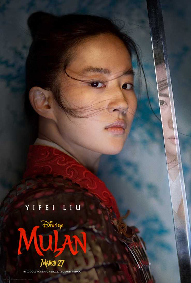 I protagonisti del live-action Mulan nei characters poster