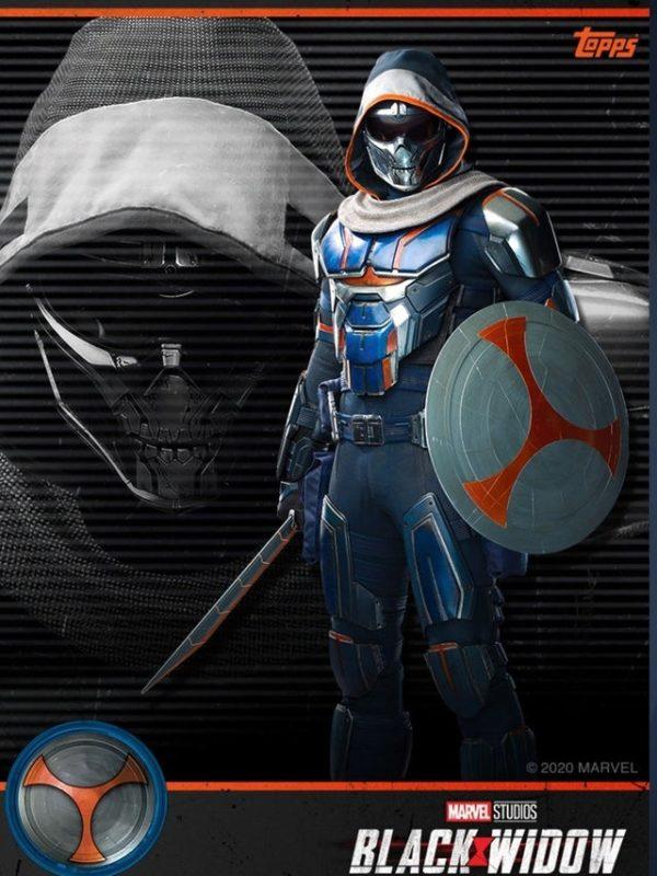 Uno sguardo dettagliato a Taskmaster, il villain del cinecomic Black Widow