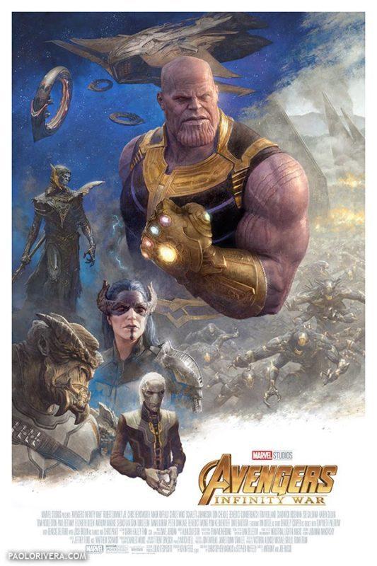 I poster di Avengers: Endgame e Avengers: Infinity War illustrati da Paolo Rivera