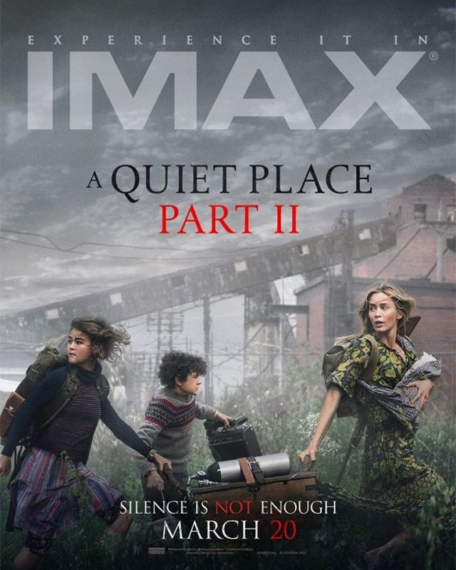 A quiet Place 2 poster imax