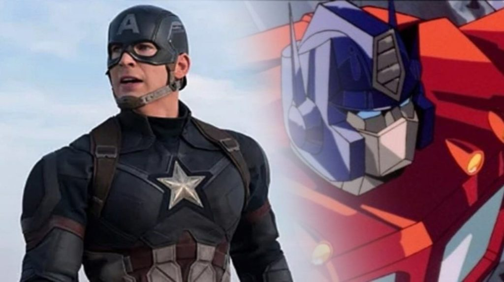 Optimus Prime contro Captain America