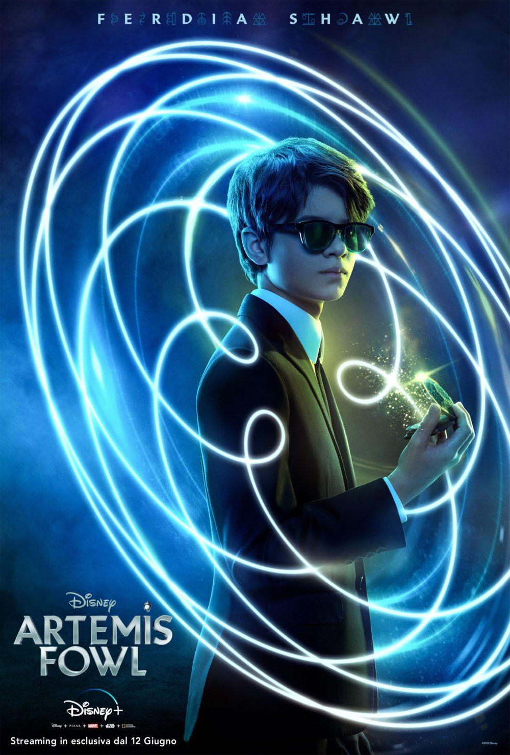 Pioggia di characters poster per Artemis Fowl, da oggi su Disney+