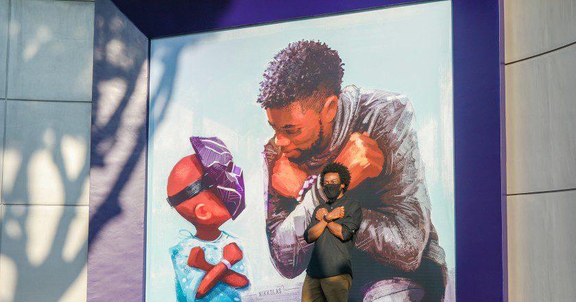 Chadwick Boseman, il murales