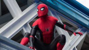 Tom Holland in costume Spider-Man 3
