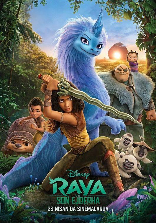 Tre coloratissimi poster da Raya e l'ultimo Drago
