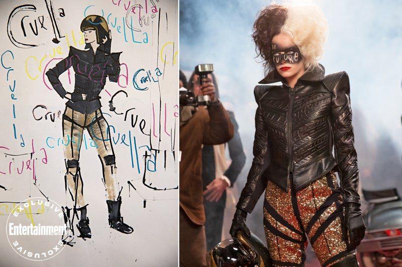 Gli abiti indossati da Emma Stone nelle nuove foto di Crudelia