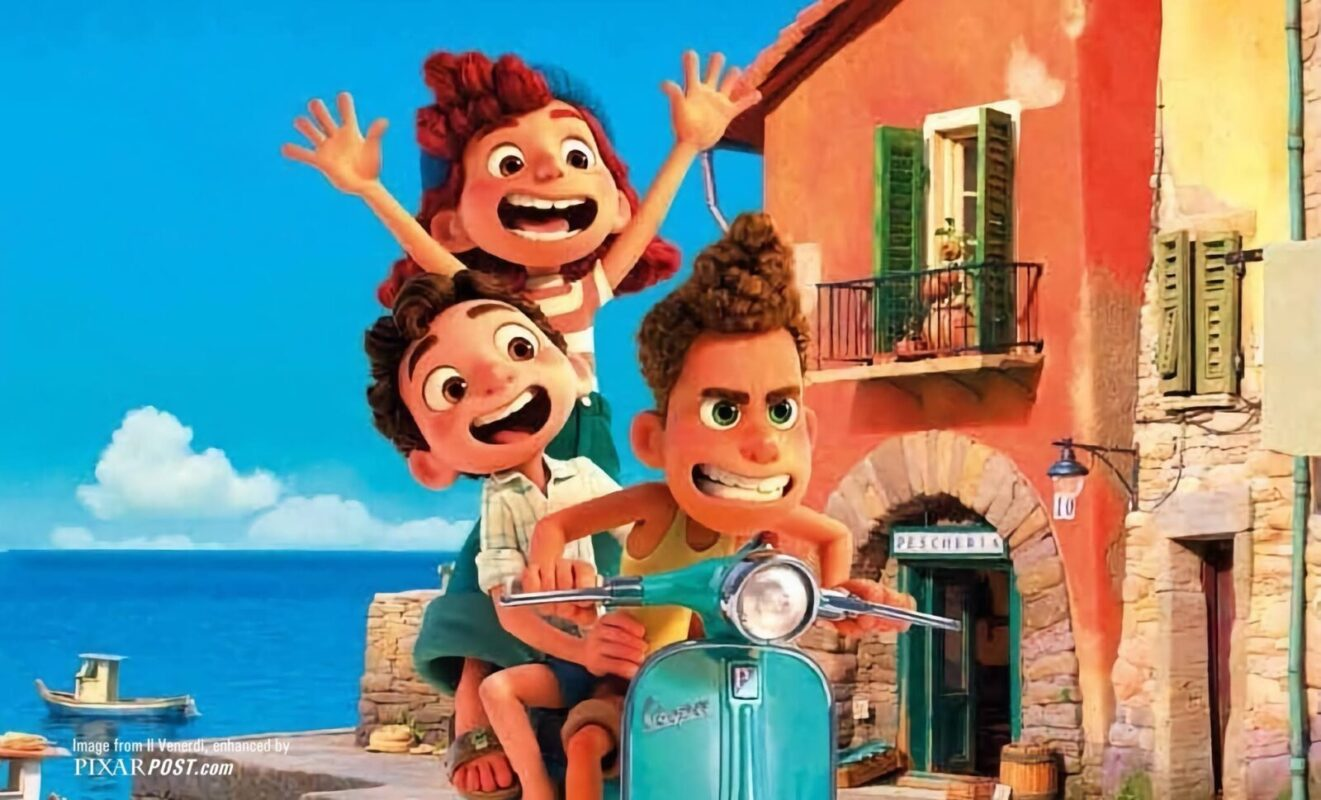 luca pixar poster italiano