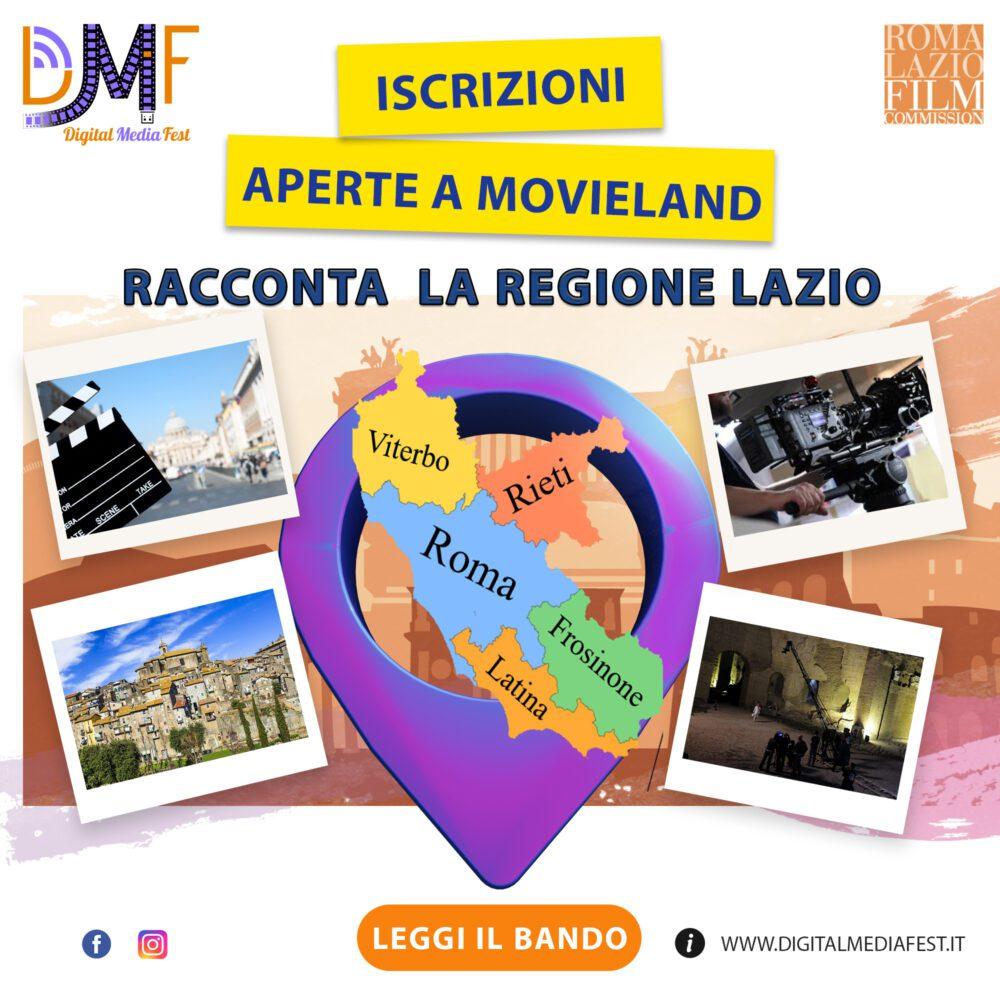 Digital Media Fest: online il bando MOVIELAND promosso da Roma Lazio Film Commission