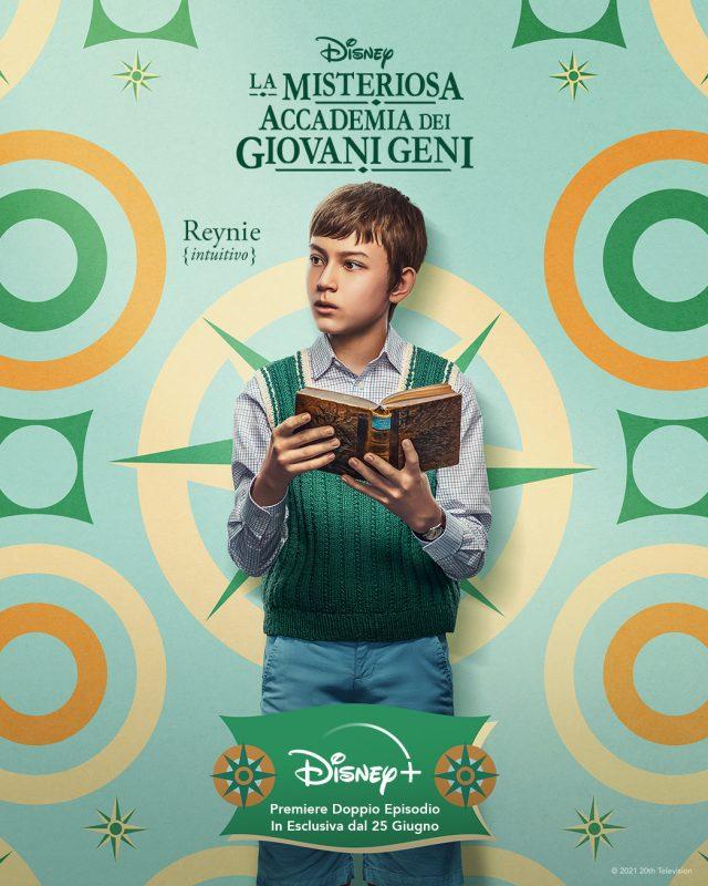 I characters poster dei protagonisti della serie La Misteriosa Accademia dei Giovani Geni