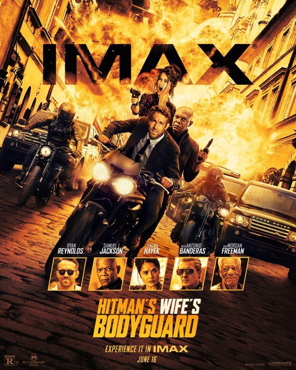 L'esplosivo poster IMAX di Come ti ammazzo il Bodyguard 2