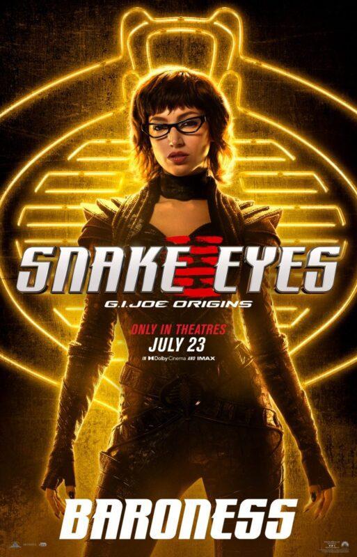 Snake Eyes: I poster di tutti i personaggi del film G.I. Joe