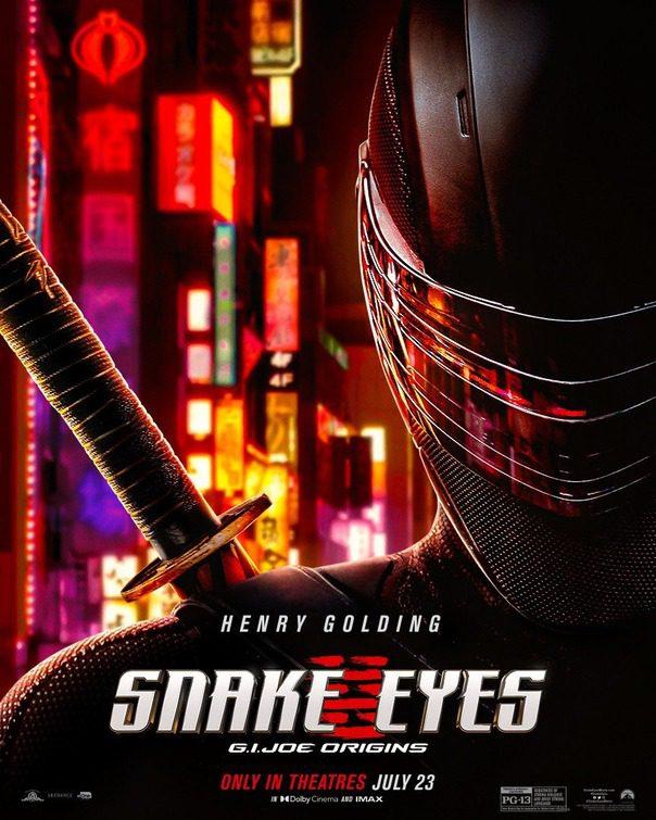 Un nuovo splendido poster da Snake Eyes: G.I. Joe Origins