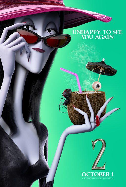 Tanti poster a tema vacanze per i protagonisti di La Famiglia Addams 2