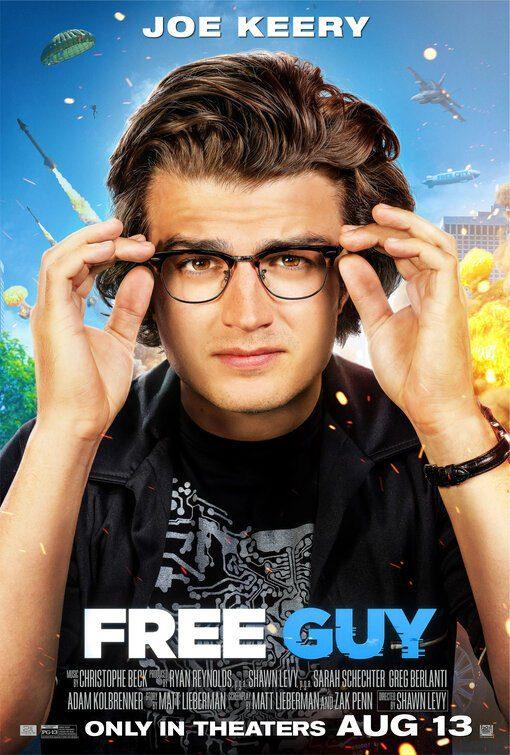 I characters poster dedicati ai protagonisti di Free Guy - Eroe per Gioco