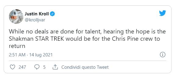 Matt Shakman Tweet